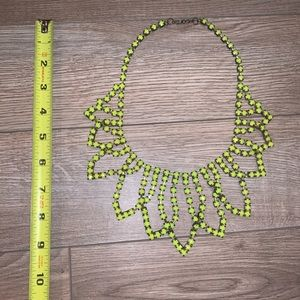 Bright yellow/ green necklace